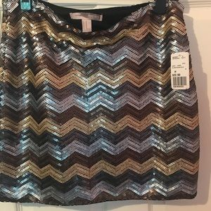 Sequined NWT skirt - gold, bronze & silver